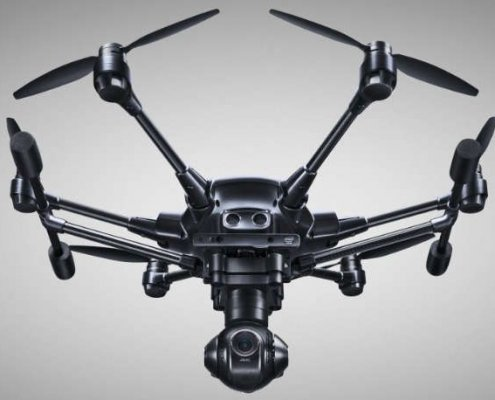 Vista frontal del Drone Yuneec Typhoon