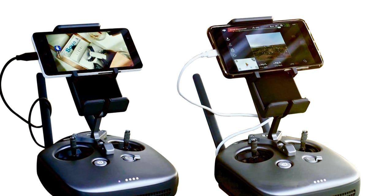 dos mandos de control remoto para drones dji