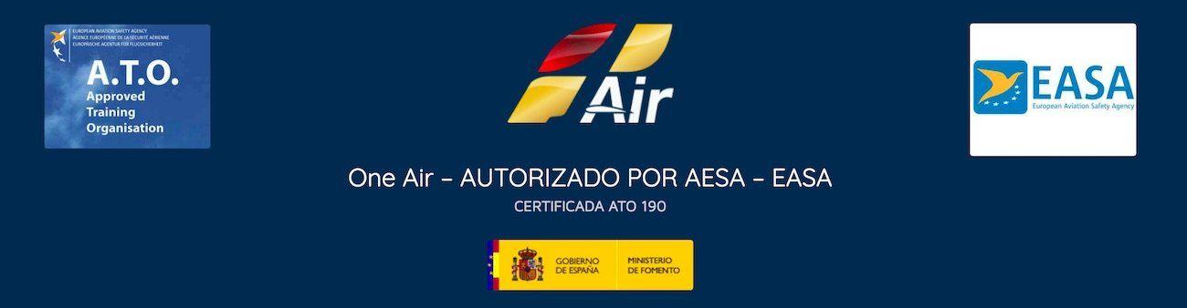 logo de oneair aviacion con logo easa y ato