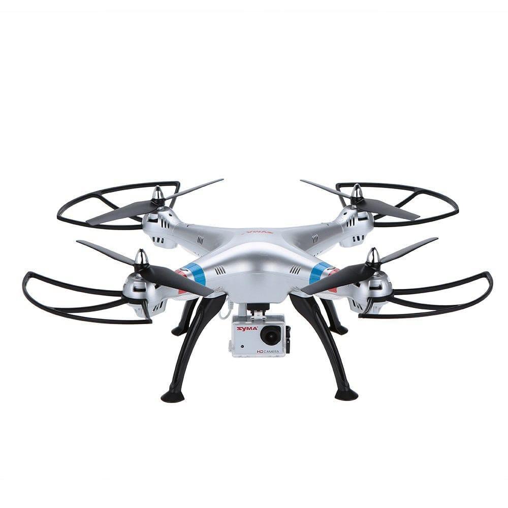 dron barato syma x8g con camara hd sobre fondo blanco