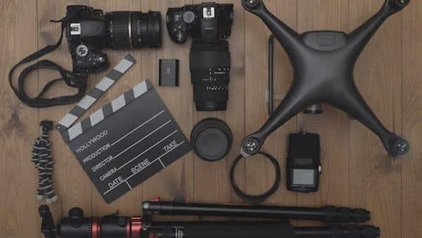 equipo necesario para el servicio de filmacion con drones