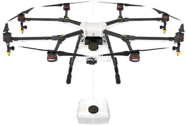 dron dji agras mg-1 para servicios de fumigacion