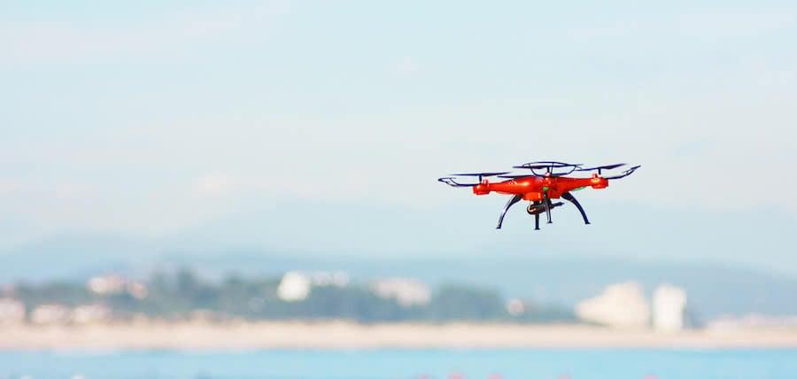 dron de vigilancia de playas
